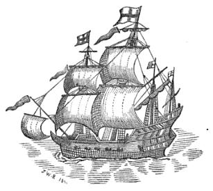 The Red Dragon Ship, 1595